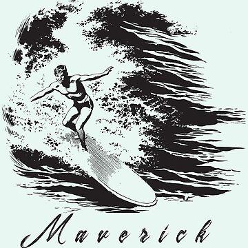 Maverick Surfing (Pocket) by AngelaFV