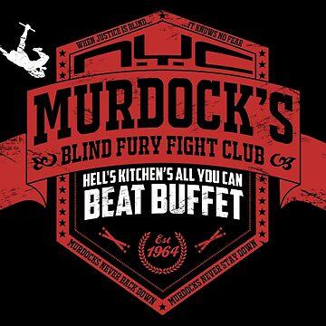 Murdock's Blind Fury Fight Club - Dist Red/White V02 by coldbludd