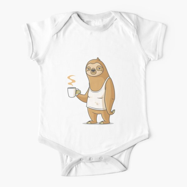 Monday Morning Depresso Short Sleeve Baby One-Piece