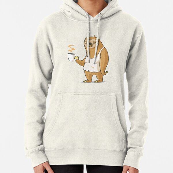 """Montag ist der schlimmste Tag """". Faultier mit Kaffeetasse auf einer faulen Cartoon-Illustration am Montagmorgen. Einreichung für die # RBSTAYCAY-Herausforderung Hoodie"""
