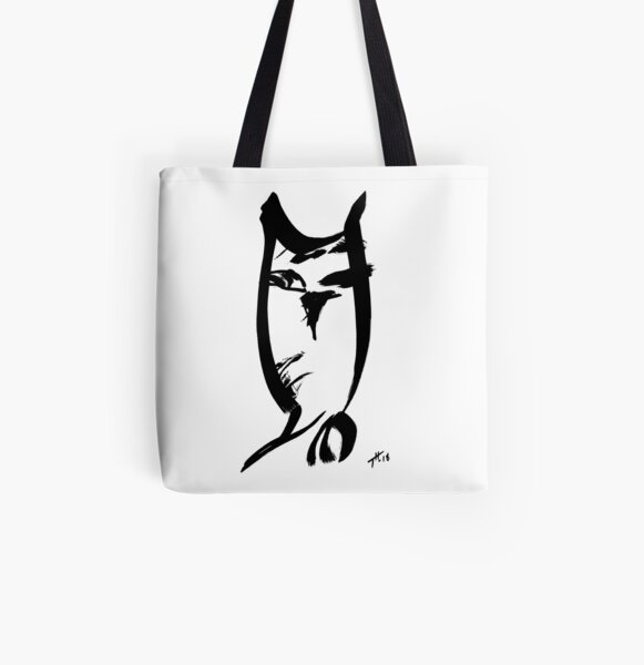 Owl - fusion of pen strokes All Over Print Tote Bag
