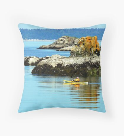 Larrabee Kayaker Throw Pillow