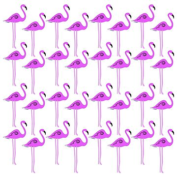 Luxury pink flamingos on white by wellnessSisters