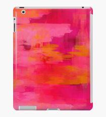 """Vinilo o funda para iPad """"Pinceladas abstractas rosas y naranjas"""""""