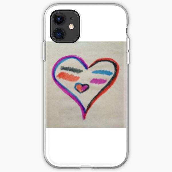 heart smiling face iPhone Soft Case