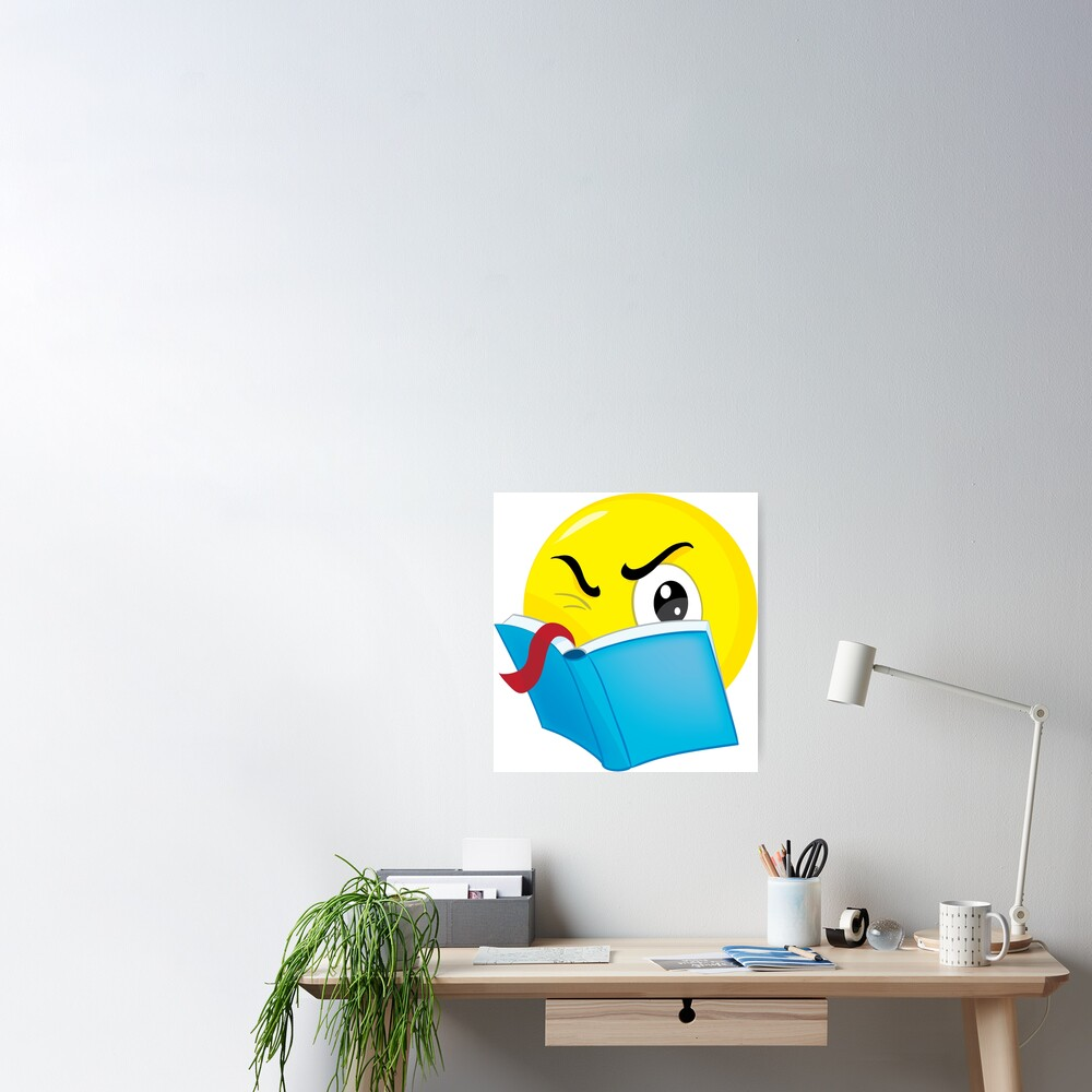 emoticon read Poster