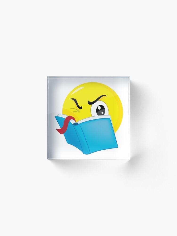Alternate view of emoticon read Acrylic Block