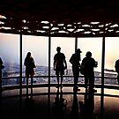 Silhouettes in Burj Khalifa at Sunset - Dubai by Yannik Hay
