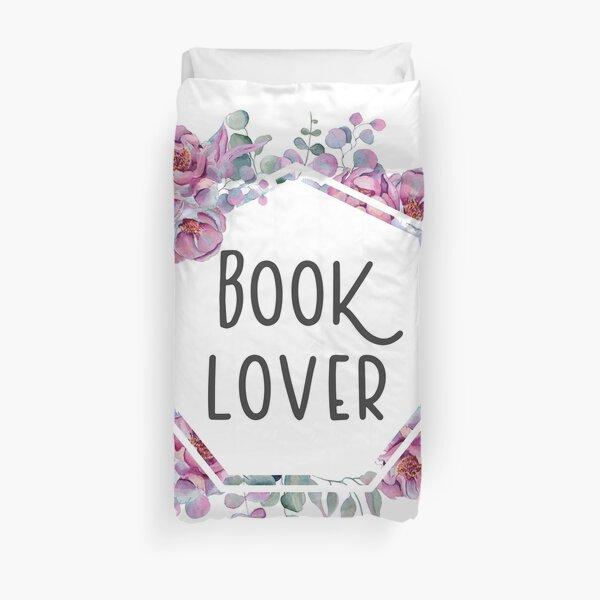 Booklover - Floral Design Duvet Cover