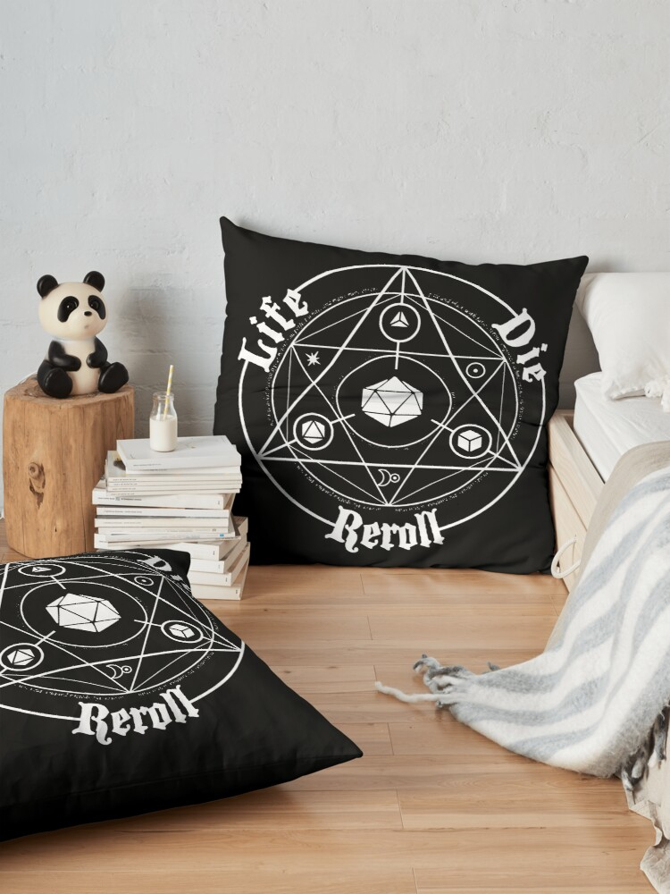 Alternate view of Roleplay Life Circle Reroll Floor Pillow