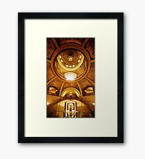 """Missouri Capitol"" Jefferson City Watercolor Framed Print"