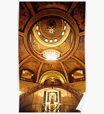 """Missouri Capitol"" Jefferson City Watercolor Poster"