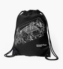 Haç Axonometric (black version) Drawstring Bag