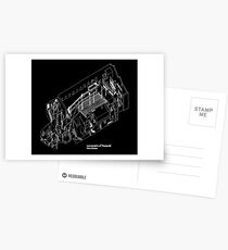 Haç Axonometric (black version) Postcards