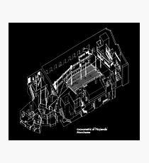 Haç Axonometric (black version) Photographic Print