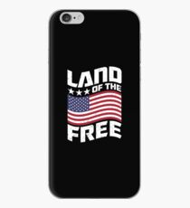Land of the Free USA Design iPhone Case