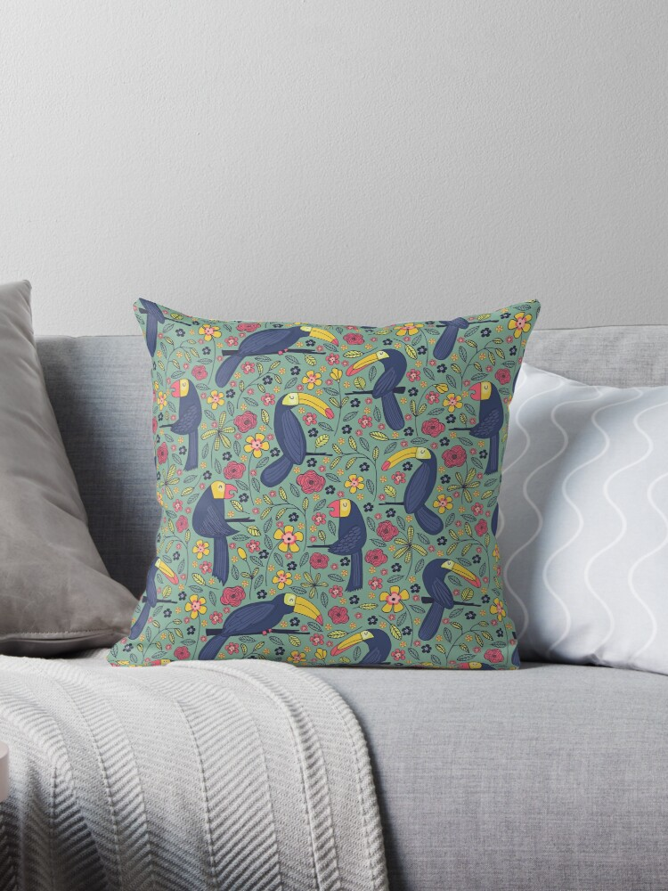 Pattern 83 - Toucans and parrots tropical dream  by Irene Silvino