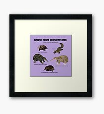 Know Your Monotremes Framed Print