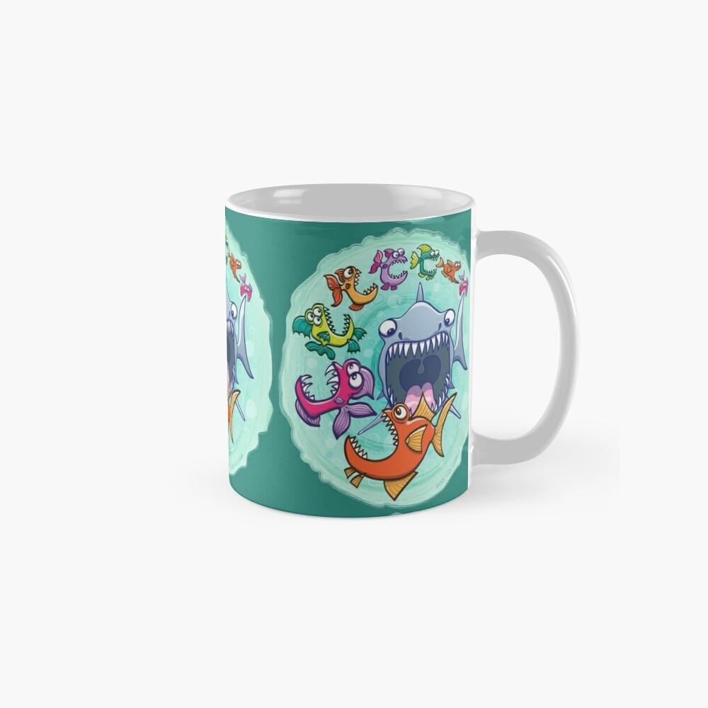 Big fish eat little fish and vice versa Classic Mug