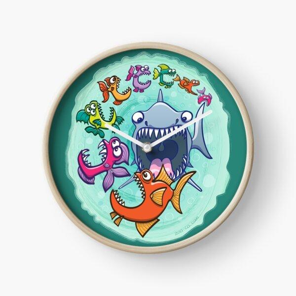 Big fish eat little fish and vice versa Clock