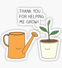 Danke, dass du mir geholfen hast zu wachsen! Sticker