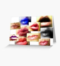 Lips Collage Greeting Card