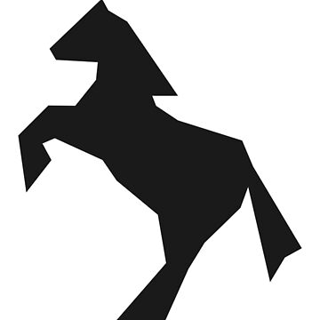 Abstract jumping horse silhouette by SooperYela