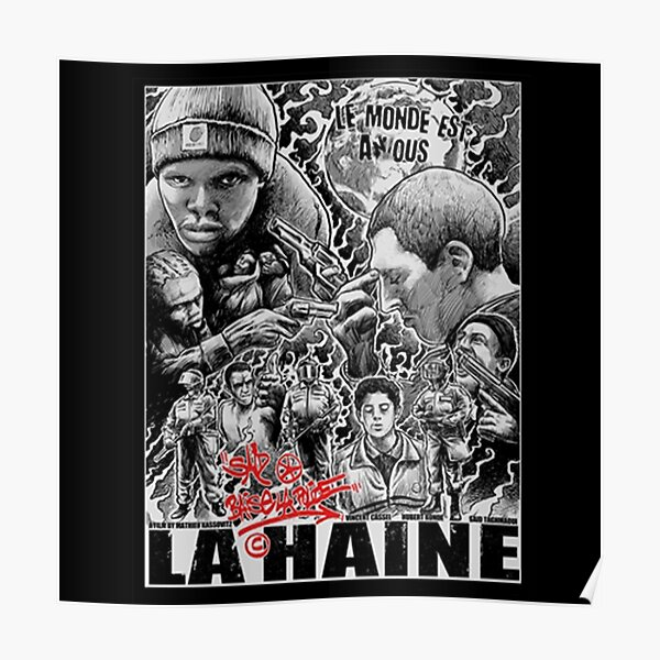 la haine police acab urban french film urban Poster