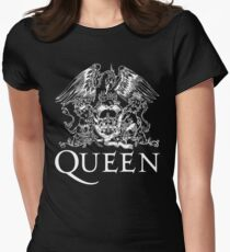 Queen Band Royal Crest Logo Women's Fitted T-Shirt