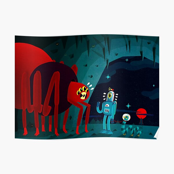 Space Spider Cave Surprise Poster