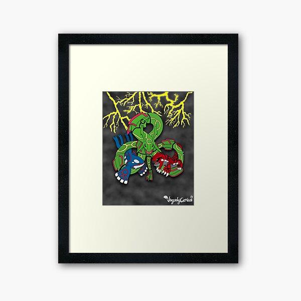 Rayquaza, Kyogre, & Groudon - Hoenn Remake Ahoy! Framed Art Print