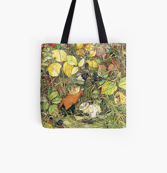 Blackberry picking All Over Print Tote Bag