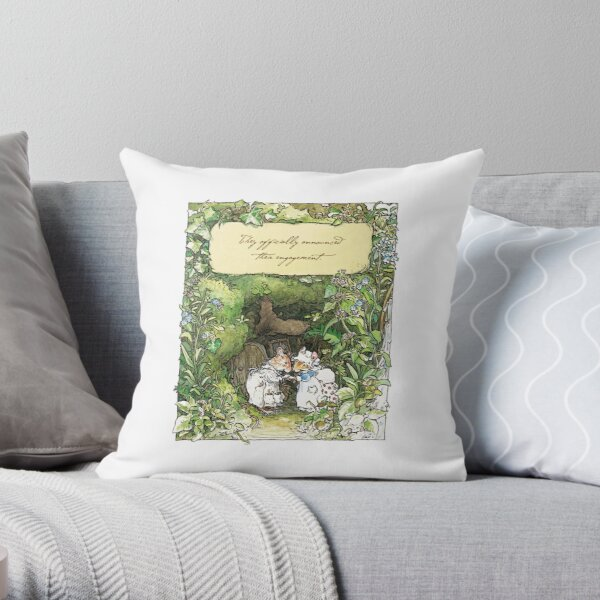 Poppy and Dusty get engaged Throw Pillow