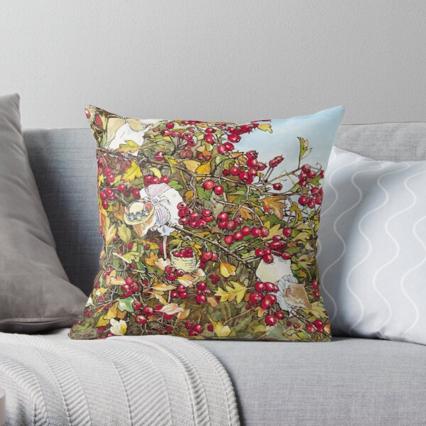The Blackthorn Bush Throw Pillow