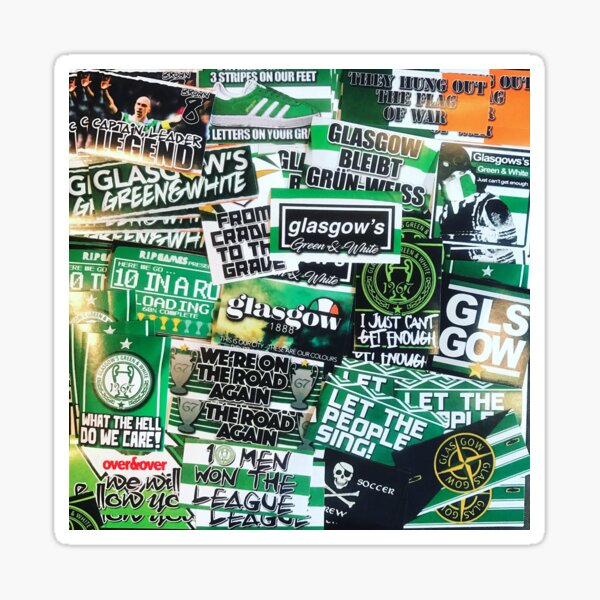 Glasgow Celtic - Green & White - GLSGOW -The Fields of Athenrye -GCFC ULTRAS 100+ Stickers Sticker
