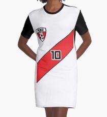 Peru Soccer Jersey Shirt Futbol Graphic T-Shirt Dress