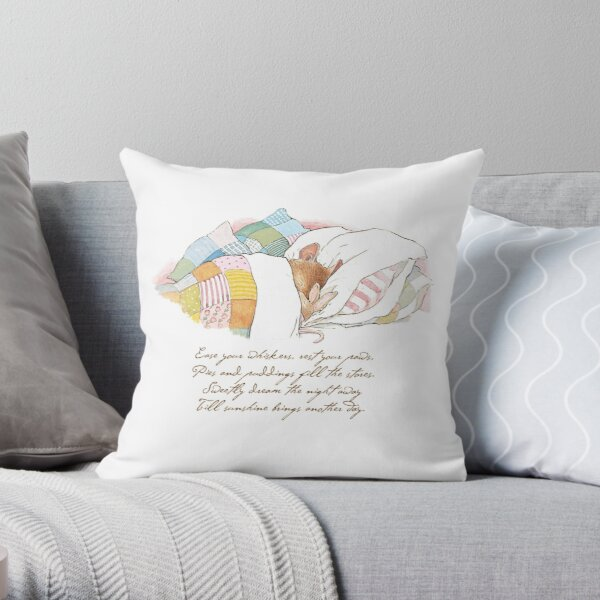 Primrose goes to sleep Throw Pillow