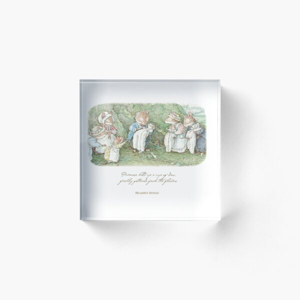 Brambly Hedge Naming Ceremony Acrylic Block