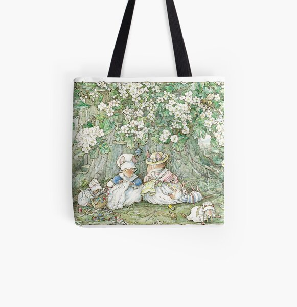Brambly Hedge - Hawthorn blossom and babies All Over Print Tote Bag