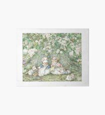 Brambly Hedge - Hawthorn blossom and babies Art Board