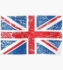 a40847ad044 Distressed Effect Union Jack Flag Poster