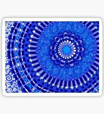 Blue, Blue, Blue Mandala Sticker