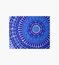 Blue, Blue, Blue Mandala Art Board