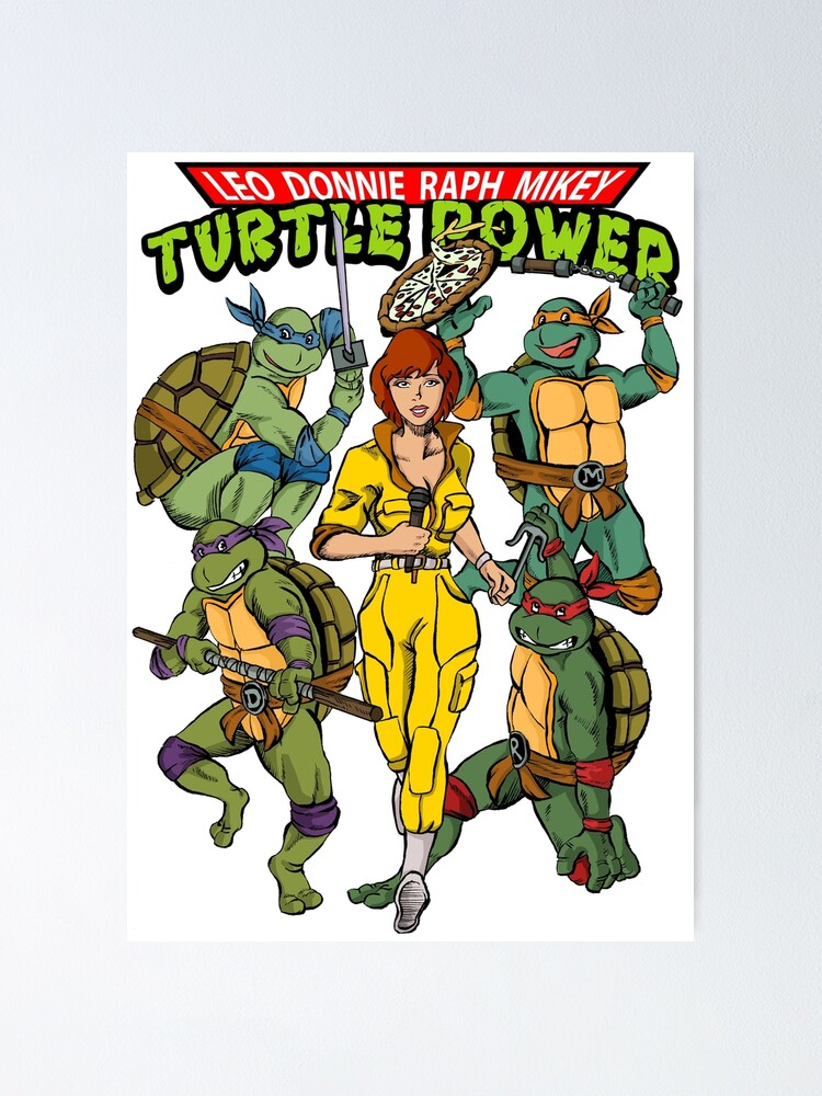 """Original /""""Leo/"""" Leonardo TMNT Comic Art Print Poster Teenage Mutant Ninja Turtles"""
