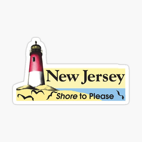 """New Jersey """"Shore to Please"""" Sticker"""