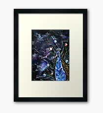 Galaxy Peacock Framed Print