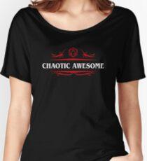 Camiseta ancha para mujer Chaotic Awesome Alignment Tabletop Juegos de rol
