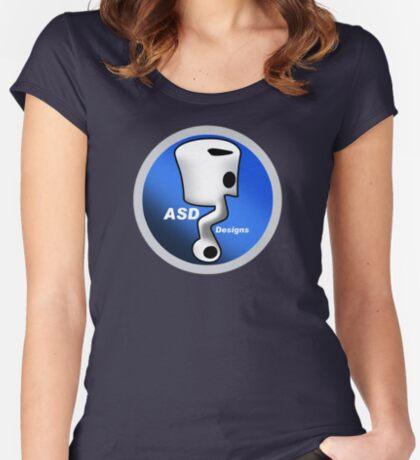 ASD Blue Logo Women's Fitted Scoop T-Shirt