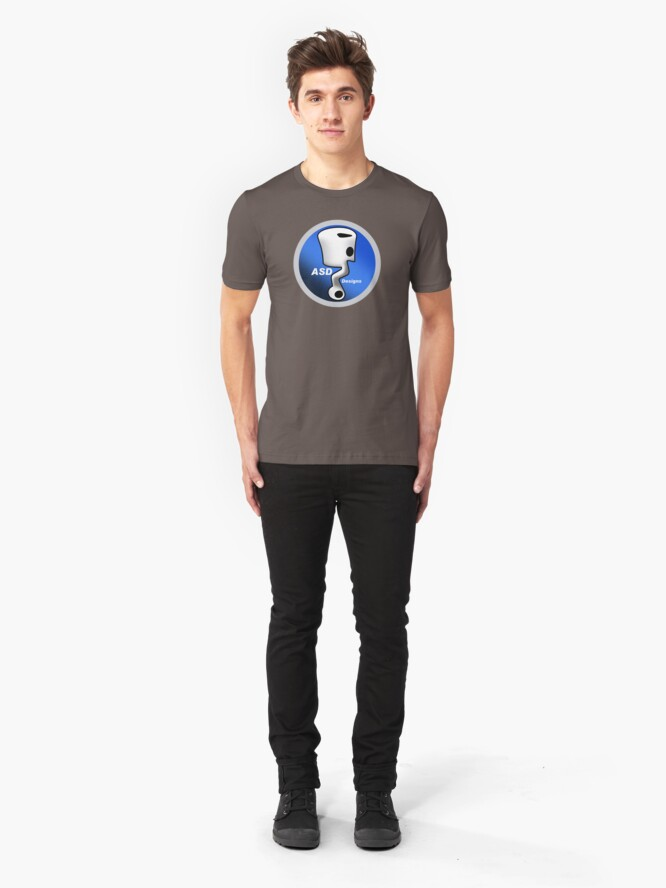Alternate view of ASD Blue Logo Slim Fit T-Shirt