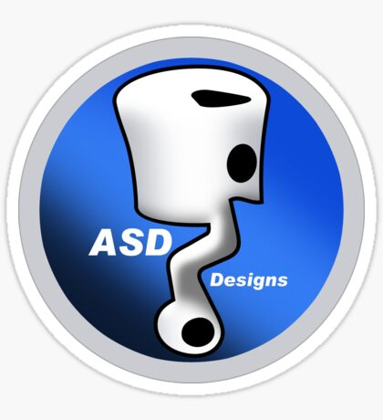 ASD Blue Logo Sticker